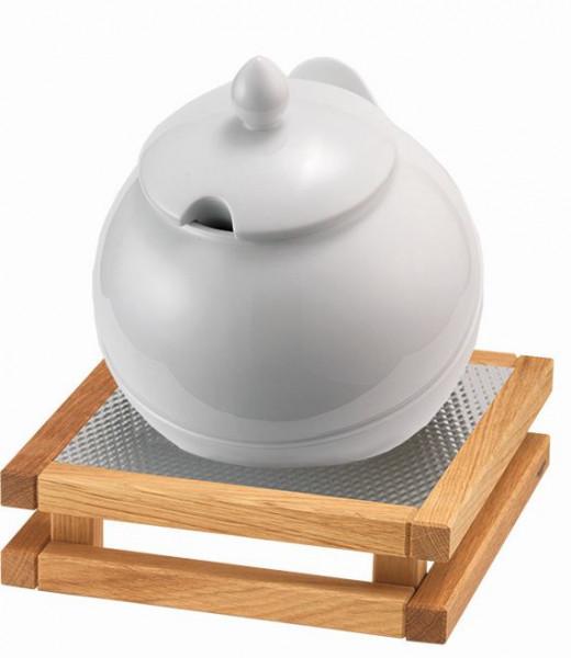 RAISER Buffet Bowl Maxi '23x23' weiß S-Standfuß 'Oak'