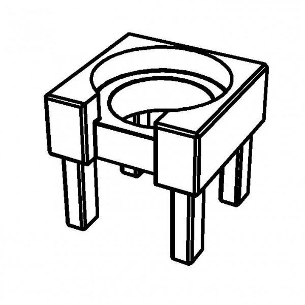 PURE NATURE Holzstandfuß für Milchkanne für 5 Liter, Buche