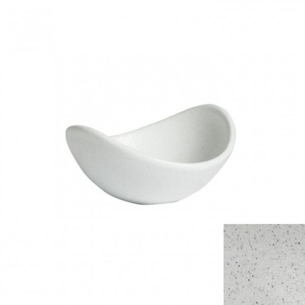 geschwungene Zutatenschale, rund marmorweiß - 148 ml - Ø 12