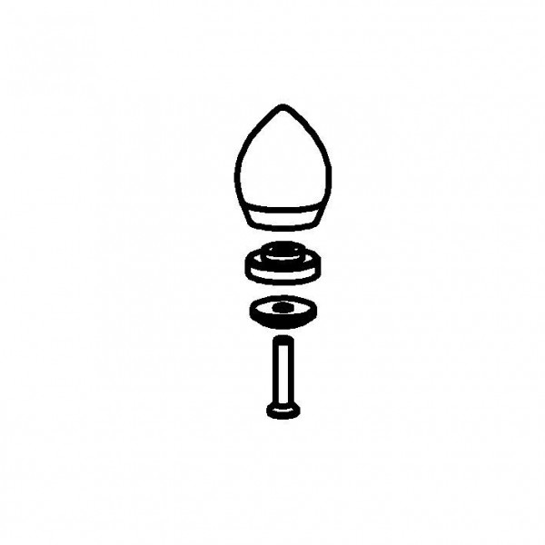 SPARE Griff Edelstahlgriff (24 Karat vergoldet
