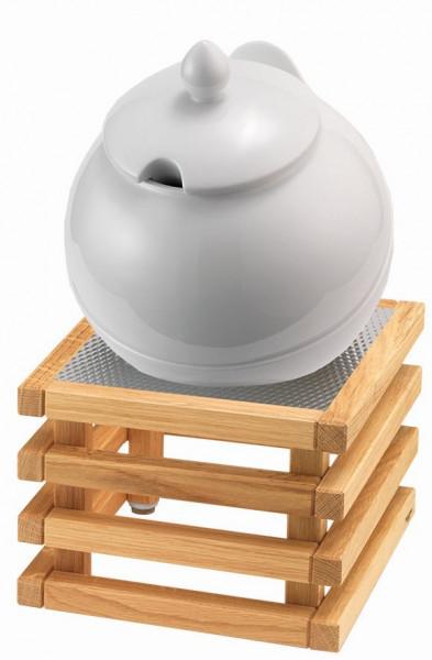 RAISER Buffet Bowl Maxi '23x23' weiß L-Standfuß 'Oak'
