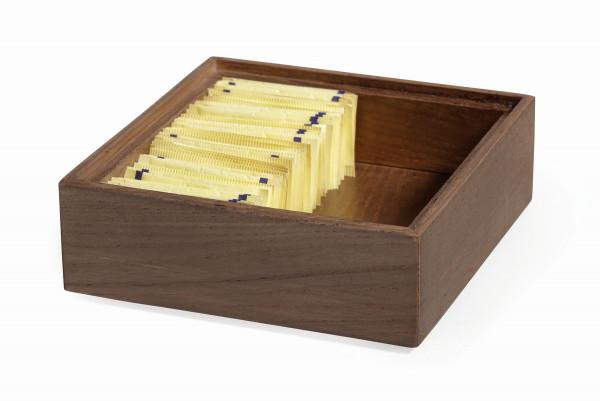 Stapelbare Holzkisten 'Gray Ash' quadratisch - 15 x 15 x 5 c