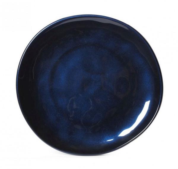 Melamin Teller, rund, ungleichförmig Cosmo™ blau - Ø 22,9 cm