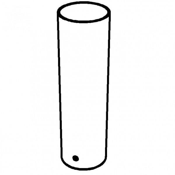 Accent Vase, bruchfest, Kunststoff transparent - Ø 17 x 58 c