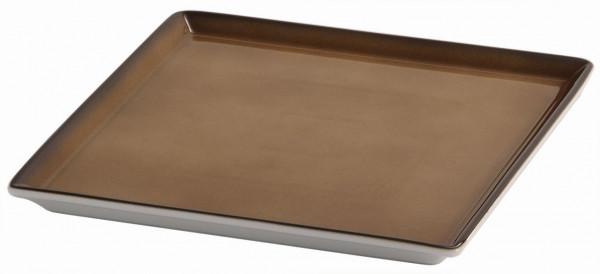 SPARE Platte/Schale '23x23' caramel Porzellanplatte 1/1