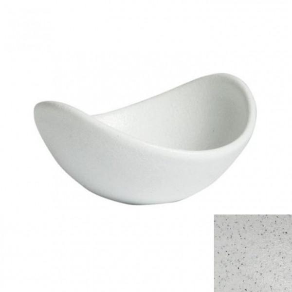 geschwungene Zutatenschale, rund marmorweiß - 350 ml - Ø 16