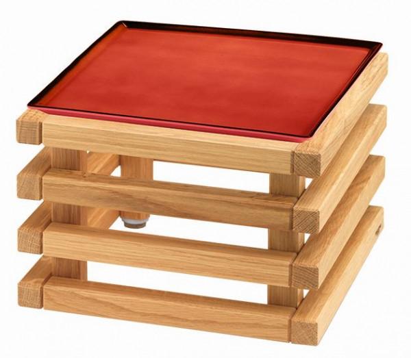 RAISER 'Frischeplatte 23x23' rot L-Standfuß 'Oak'