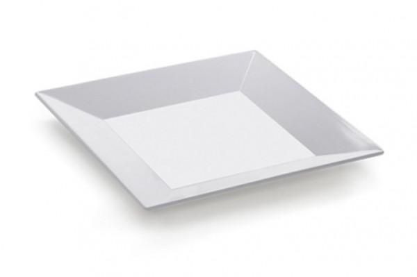 Melamin Platte, quadratisch Siciliano® - weiß - 25,4 x 25,4