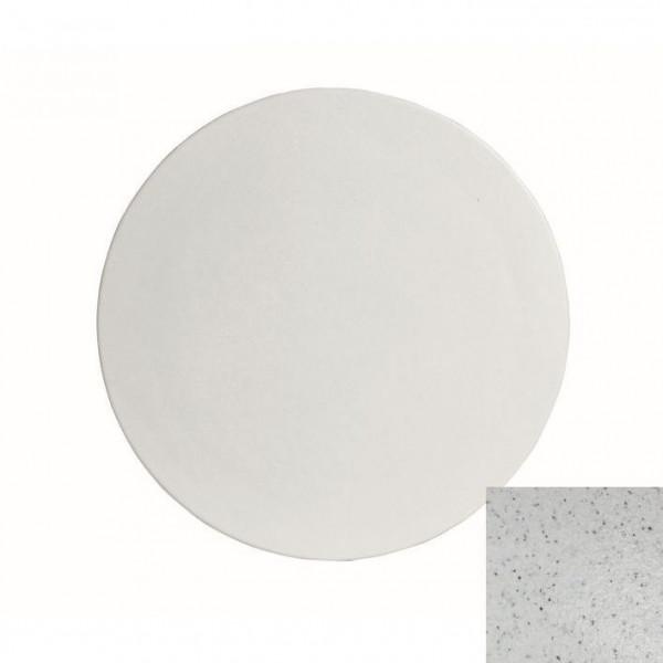 große runde Platte , L marmorweiß - Ø 45,1 x 1,5 cm