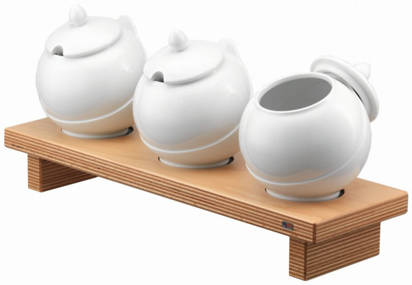 PURE NATURE Condiment Display 'Bowl Bar M', 3x 1,5 Liter