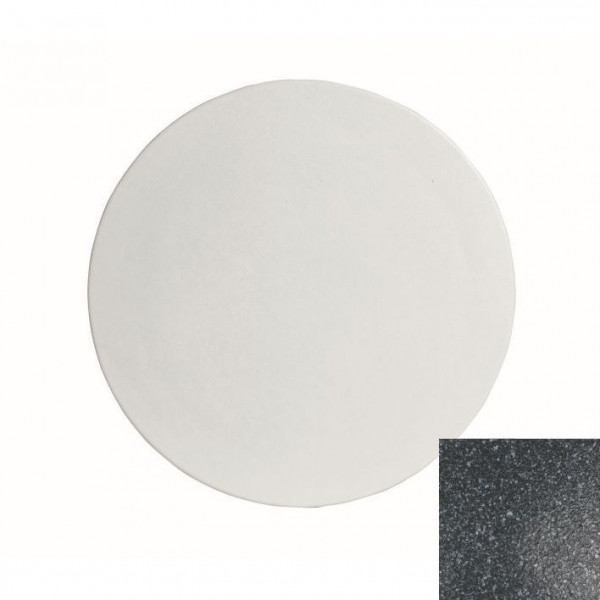 große runde Platte , L granitschwarz - Ø 45,1 x 1,5 cm