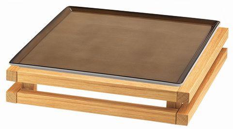 RAISER 'Frischeplatte 33x33' caramel S-Standfuß 'Oak'