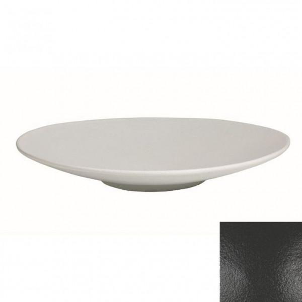 Wok flach, rund schwarz - 3,5 L - Ø 47 x 7 cm