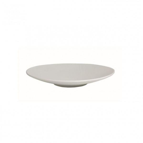 Wok flach, rund weiß - 700 ml - Ø 31 x 3,5 cm