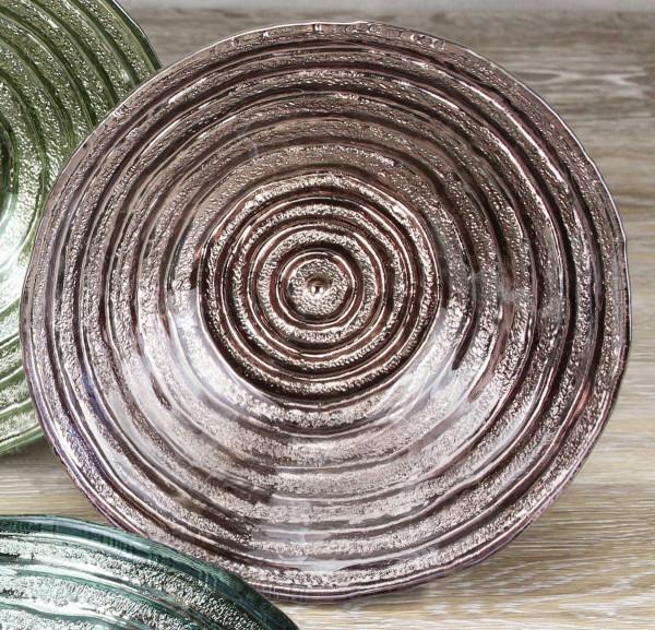 Dessert Glasschale, braun 500 ml - Ø 19,1 x 4,4 cm