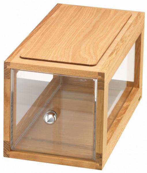 Box Bread 'Slender' Stapelbare Brotbox aus Eichenholz