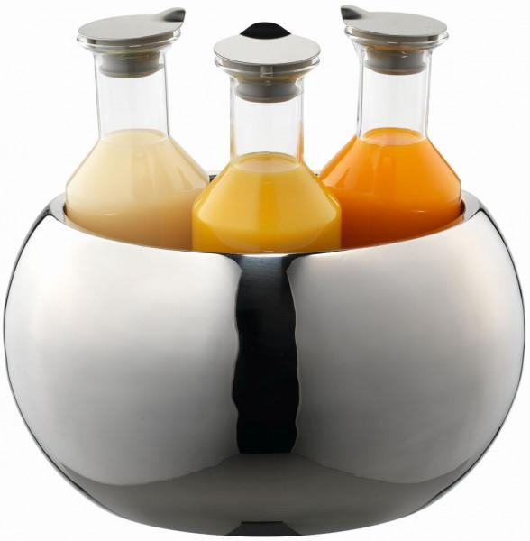 CARAFINE Getränke-Set 'Triplet' 3 x 1,2 Liter, Glaskaraffe