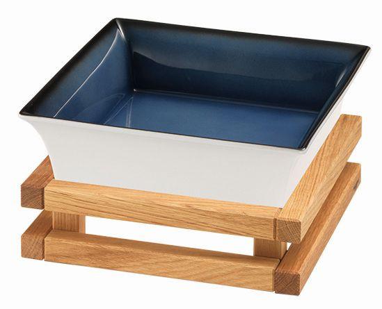 RAISER 'Frischeschale 23x23' blau 2,5 l - S-Standfuß 'Oak'