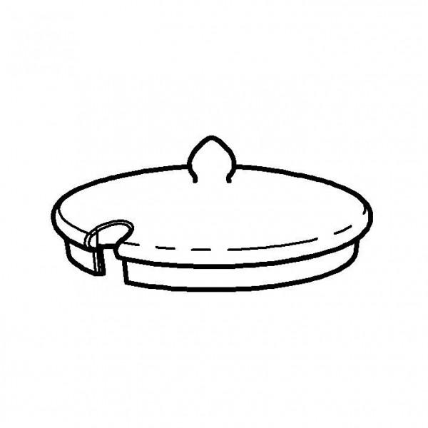 SPARE Deckel/Haube - weiß Porzellandeckel für Porzellandose