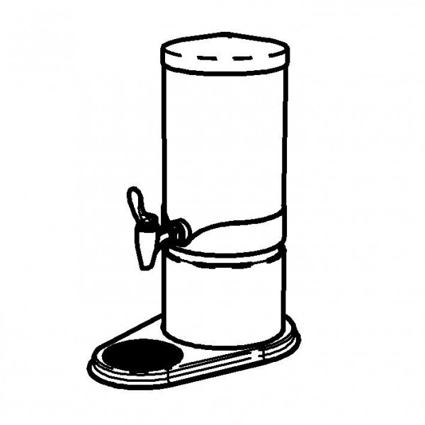ELEGANCE Saftkanne 'Extra' 5 Liter, Gold, Behälter (klar)