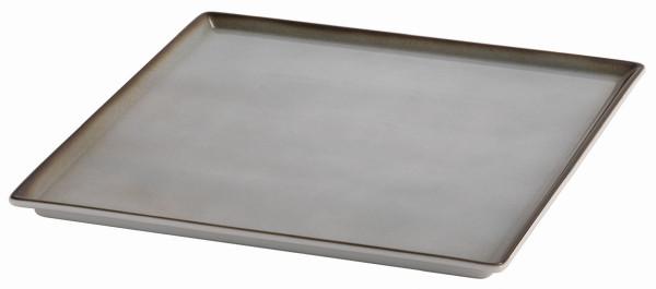 SPARE Platte/Schale '33x33' grau Porzellanplatte 1/1
