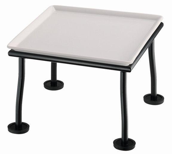 RAISER 'Frischeplatte 23x23' weiß L-Standfuß 'Black Steel'