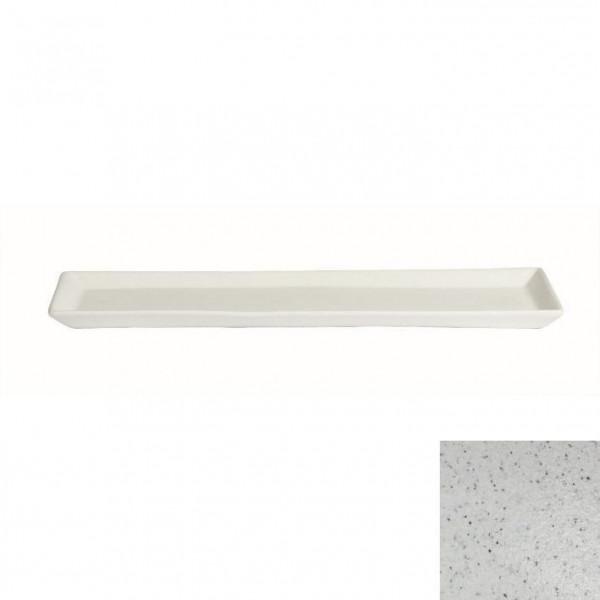 Gorumet Platte marmorweiß - 500 ml - 19,5 x 48,5 x 3 cm