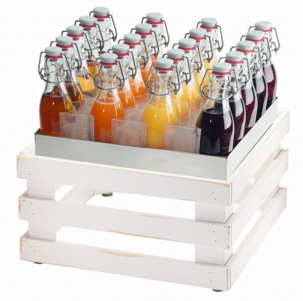 RAISER Getränke-Set '33x33' L-Standfuß 'Vintage White'