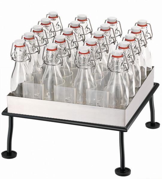 RAISER Getränke-Set '33x33' M-Standfuß 'Black Steel'