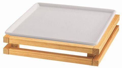 RAISER 'Frischeplatte 33x33' weiß S-Standfuß 'Oak'