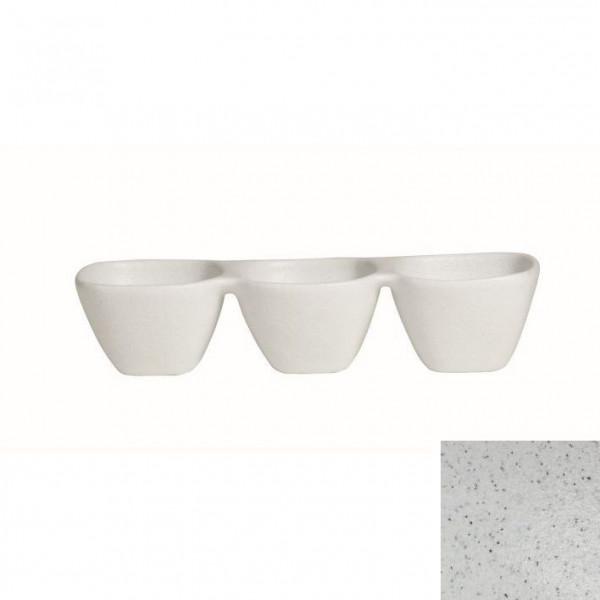 Zutatenschälchen, 3er marmorweiß - 600 ml - 38,5 x 13,5 x 8