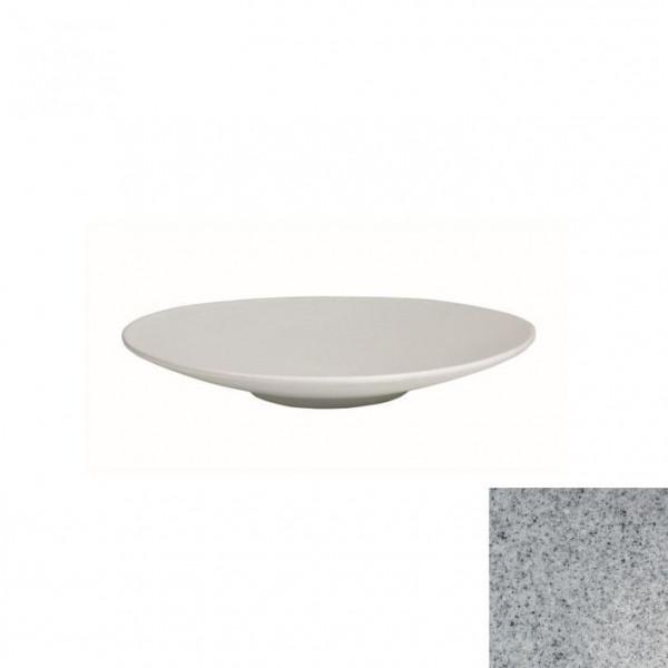 Wok flach, rund grau - 700 ml - Ø 31 x 3,5 cm