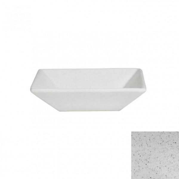 tiefe Schüssel, quadratisch M marmorweiß - 1,8 L - 25 x 25