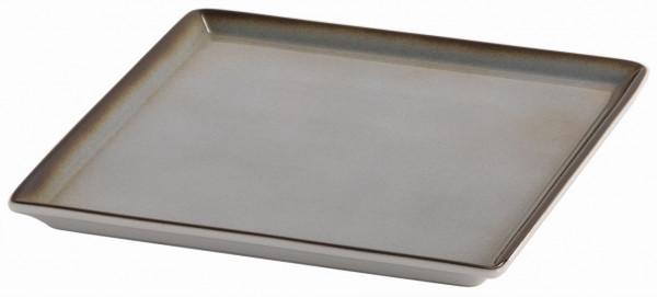 SPARE Platte/Schale '23x23' grau Porzellanplatte 1/1