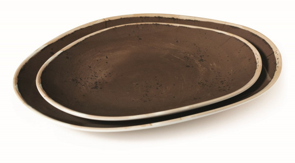 Melanin Tablett, oval geschwungen Osslo™ Pottery Coffee -