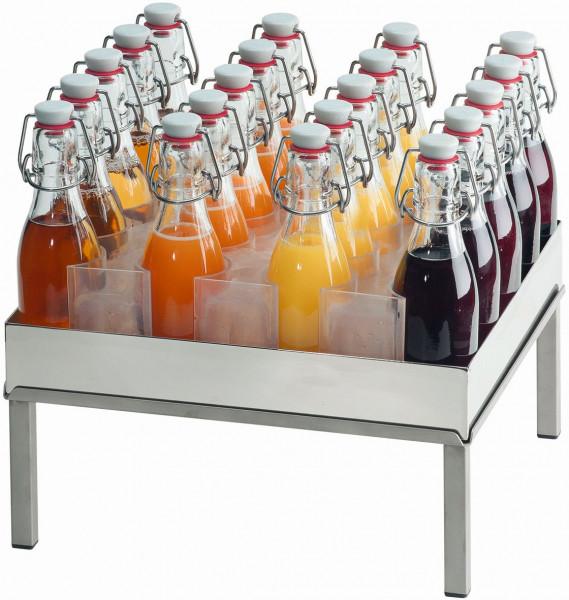 RAISER Getränke-Set '33x33' M-Standfuß 'Stainless Steel'