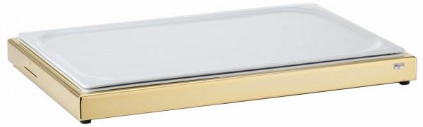 UNISON Frischeplatte 'GN' mit einer GN-Porzellanplatte, Gold