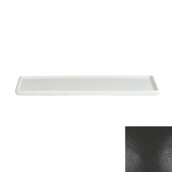 Platte mit Rand, rechteckig schwarz - 35,1 x 45 x 1,5 cm