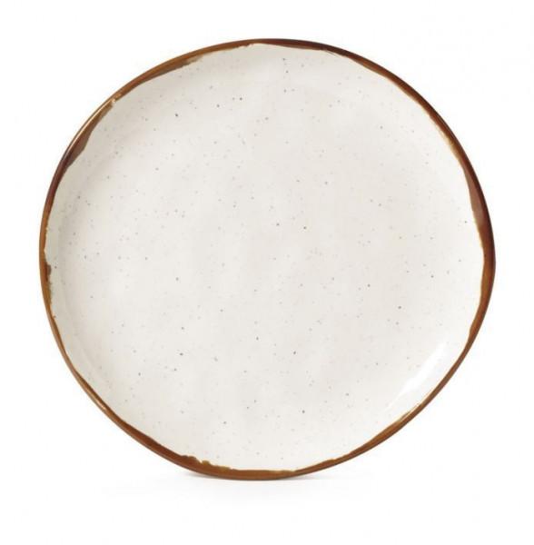 Melamin Teller, rund, ungleichförmig Rustic Mill™ - Ø 27,7 c