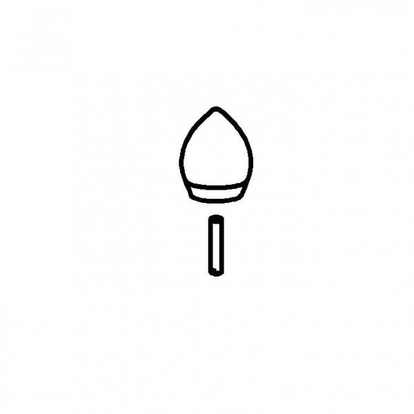 SPARE Griff Edelstahlgriff 24 Kara mit Gewindestift