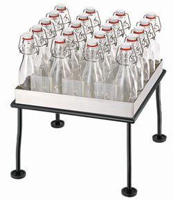 RAISER Getränke-Set '33x33' L-Standfuß 'Black Steel'