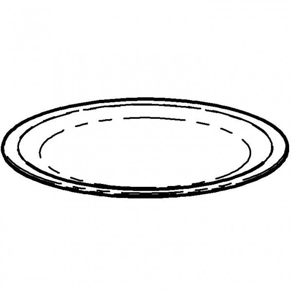 SPARE Platte/Schale `400` Porzellanplatte (Ø 410mm)