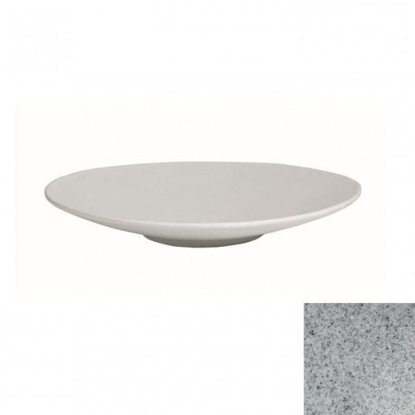 Wok flach, rund grau - 1,8 L - Ø 39 x 5,5 cm
