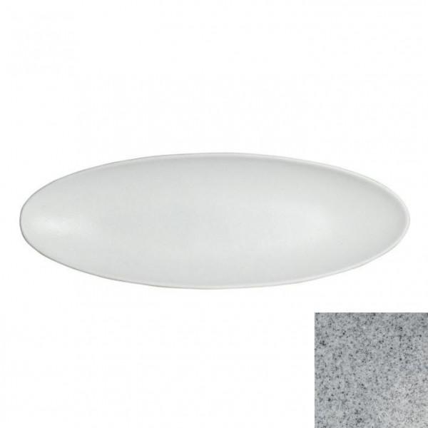 Obstplatte, oval grau - 750 ml - 17,5 x 55 x 3,5 cm