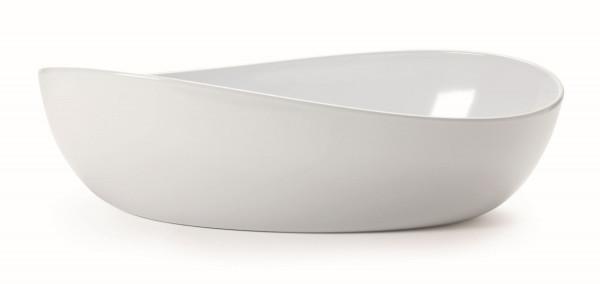 Melamin Schale, oval Osslo™ weiß - 5,7 l - 42,5 x 25,4 cm