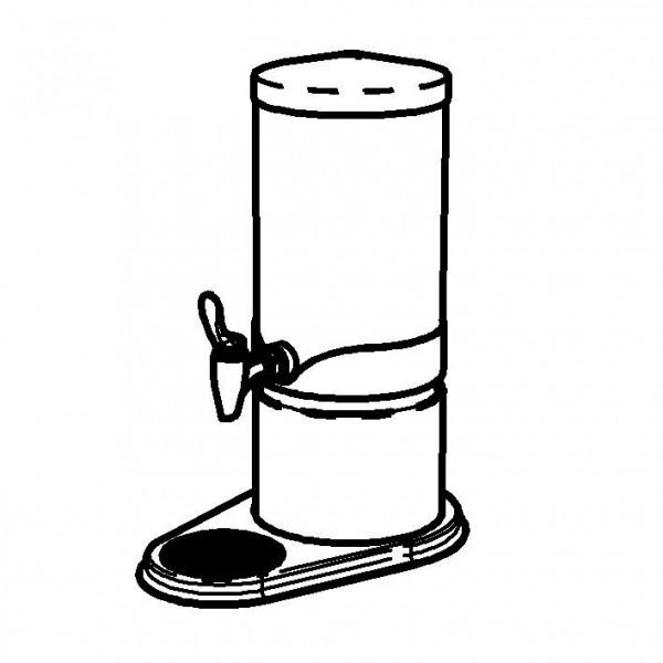 ELEGANCE Saftkanne 'Extra' 5 Liter, Gold, Behälter (Opal-