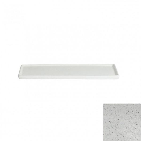 Platte mit Rand, rechteckig marmorweiß - 25,9 x 16 x 1,0 cm