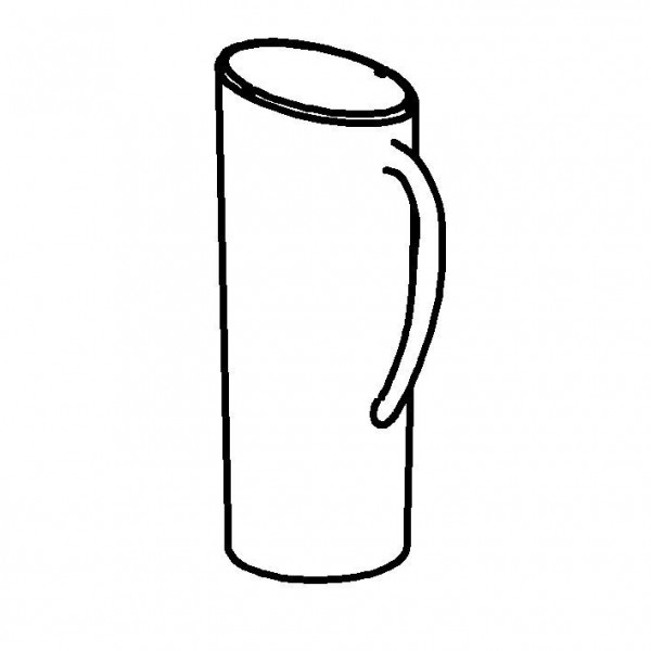 SPARE Behälter Flöte SAN, transparent, 1,5 Liter