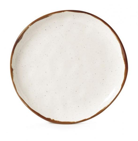 Melamin Teller, rund, ungleichförmig Rustic Mill™ - Ø 17,8 c