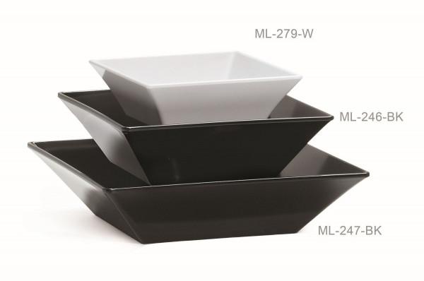 Melamin Schale, quadratisch Siciliano® - schwarz - 2,4 l